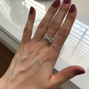 Kate Spade pave Bow Ring